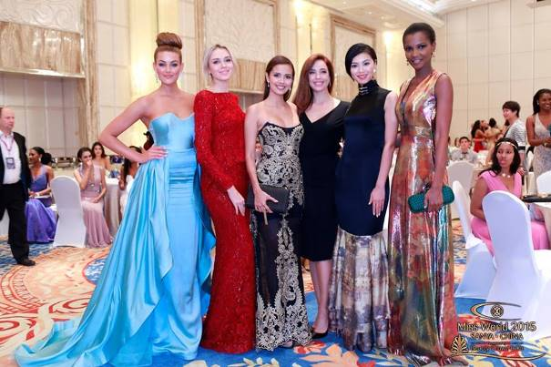Rolene Strauss Miss World 2014, Ksenia Sukhinova Miss World 2008, Megan Young Miss World 2013, Azra Akın Miss World 2002, Yu Wenxia Miss World 2012 Agbani Darego Miss World 2001