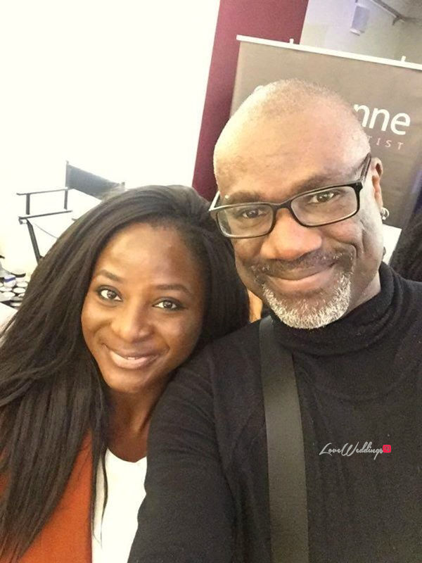 Seyi of LoveweddingsNG with Yemi Osunkoya Kosibah