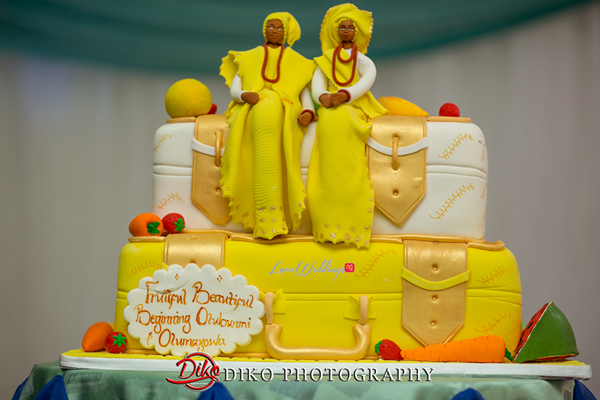 Nigerian Traditional Wedding - Bunmi and Mayowa cake LoveweddingsNG