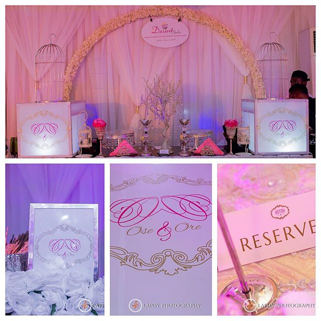 Nigerian Wedding #DoubleO2016 LoveweddingsNG branding