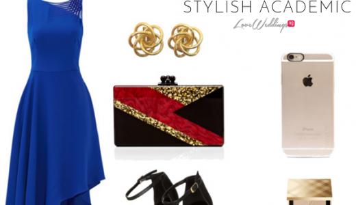 Nigerian Wedding Guest Look Cobalt Blue LoveweddingsNG Stylish Academic feat