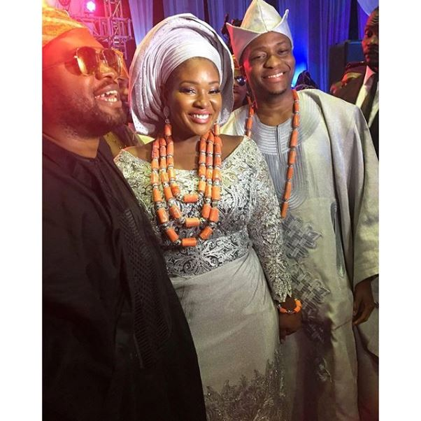 Toolz & Tunde Demuren's Traditional Wedding - The couple with Cobhams LoveweddingsNG