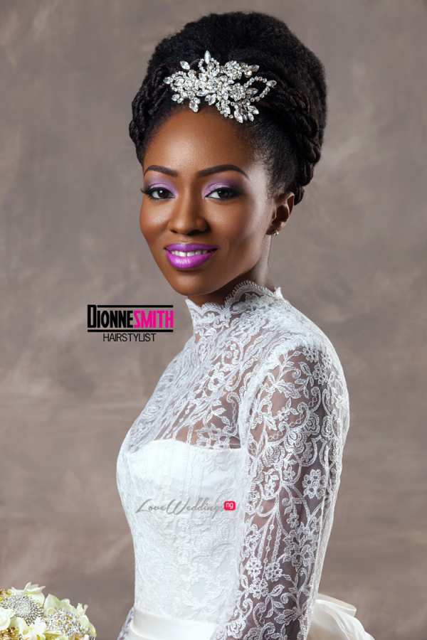 Natural Hair Bridal Inspiration Dionne Smith LoveweddingsNG 4