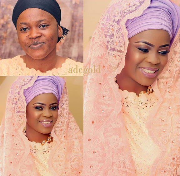 Nigerian Makeovers - Before and After Adegold Makeovers LoveweddingsNG 1