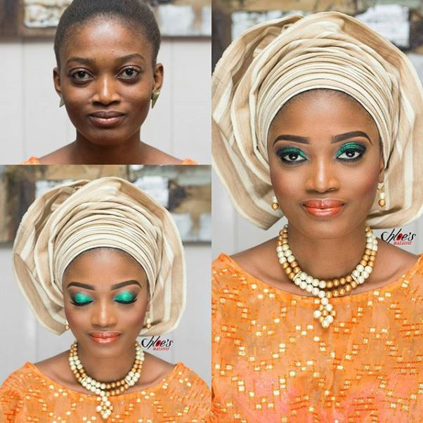 Nigerian Makeovers - Before and After Chloes Makeover LoveweddingsNG