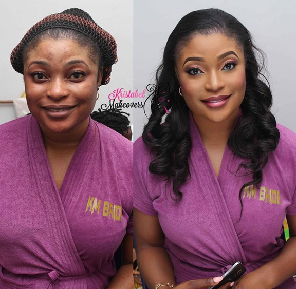 Nigerian Makeovers - Before and After Kristabel Makeovers LoveweddingsNG 1