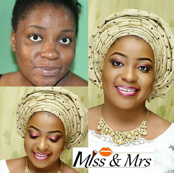 Nigerian Makeovers - Before and After Miss & Mrs LoveweddingsNG