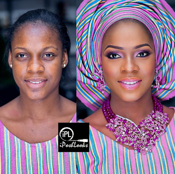 Nigerian Makeovers - Before and After Stephanie IPosh Looks LoveweddingsNG