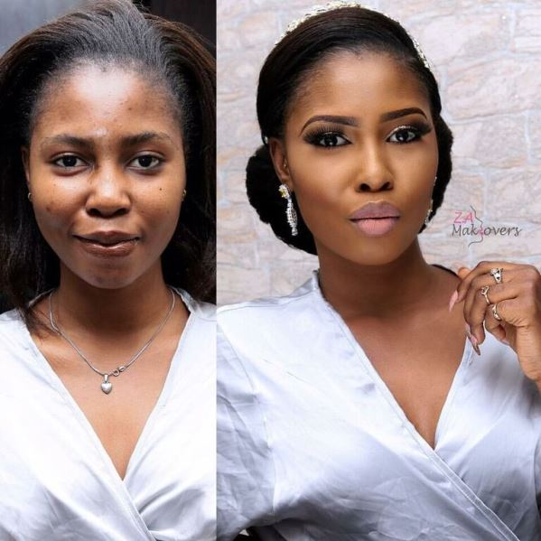Nigerian Makeovers - Before and After Zainab Azeez Makeovers LoveweddingsNG