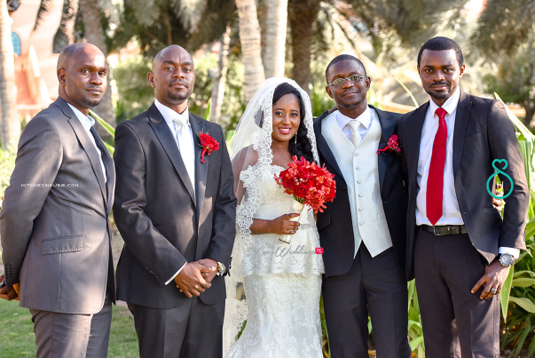 Nigerian Wedding in Dubai Bride, Groom and friends LoveweddingsNG Save the Date
