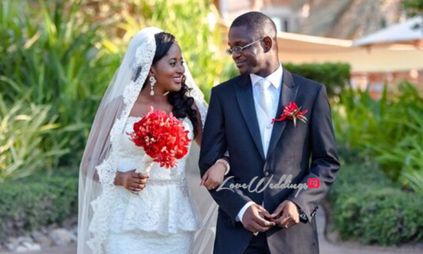 Nigerian Wedding in Dubai Bride and Groom LoveweddingsNG Save the Date 1