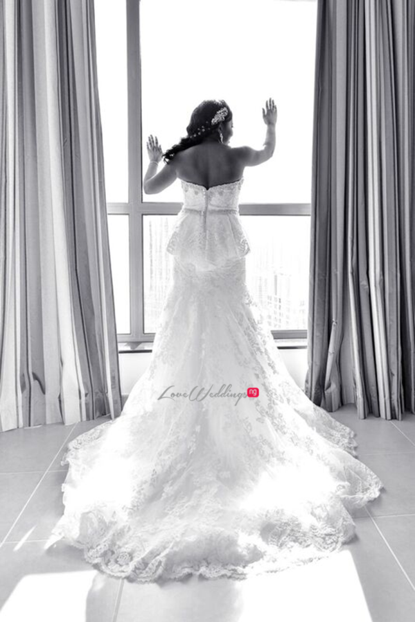 Nigerian Wedding in Dubai Bride in Gown LoveweddingsNG Save the Date
