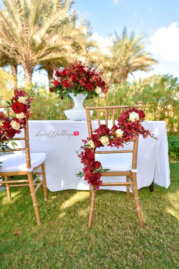 Nigerian Wedding in Dubai Outdoor Wedding LoveweddingsNG Save the Date