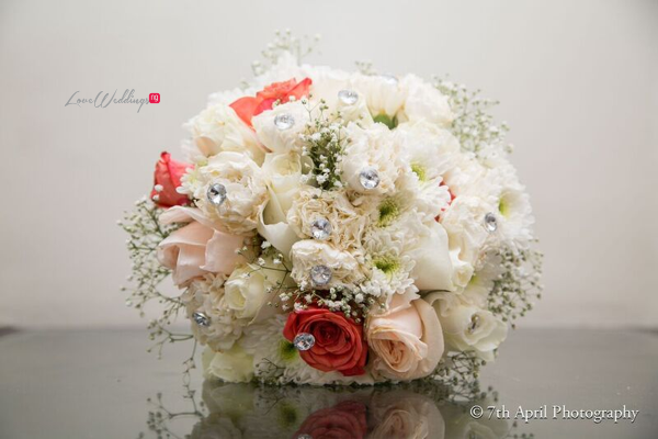 Nigerian White Wedding - Afaa and Percy - 7th April Photography LoveweddingsNG bouquet
