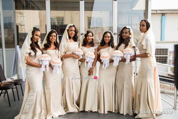Nigerian White Wedding - Afaa and Percy 7th April Photography LoveweddingsNG bridal train