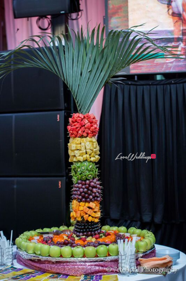 Nigerian White Wedding - Afaa and Percy 7th April Photography LoveweddingsNG fruit display 2