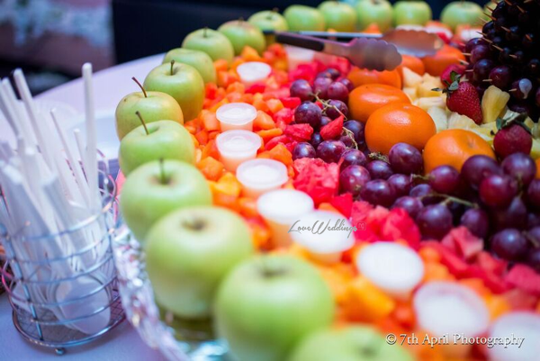 Nigerian White Wedding - Afaa and Percy 7th April Photography LoveweddingsNG fruit display