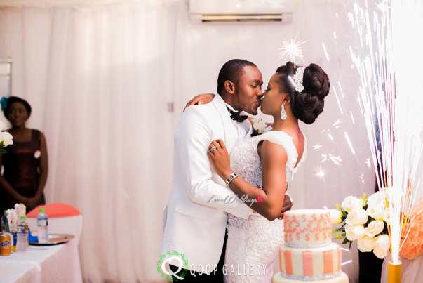 Nigerian White Wedding - Bride and Groom Kiss - Teju Yinka LoveweddingsNG