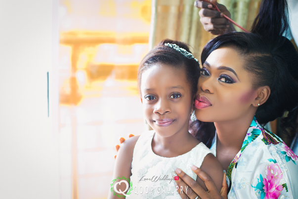 Nigerian White Wedding Bride and little bride - Teju Yinka LoveweddingsNG
