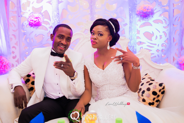 Nigerian White Wedding Couple - Teju Yinka LoveweddingsNG