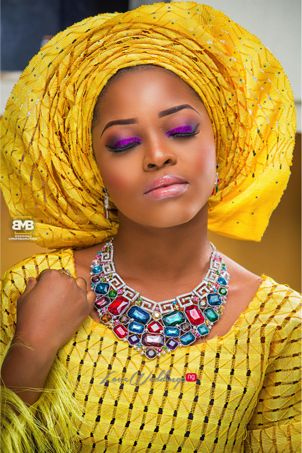 Yellow Traditional Bridal Inspiration BMB Photography LoveweddingsNG1