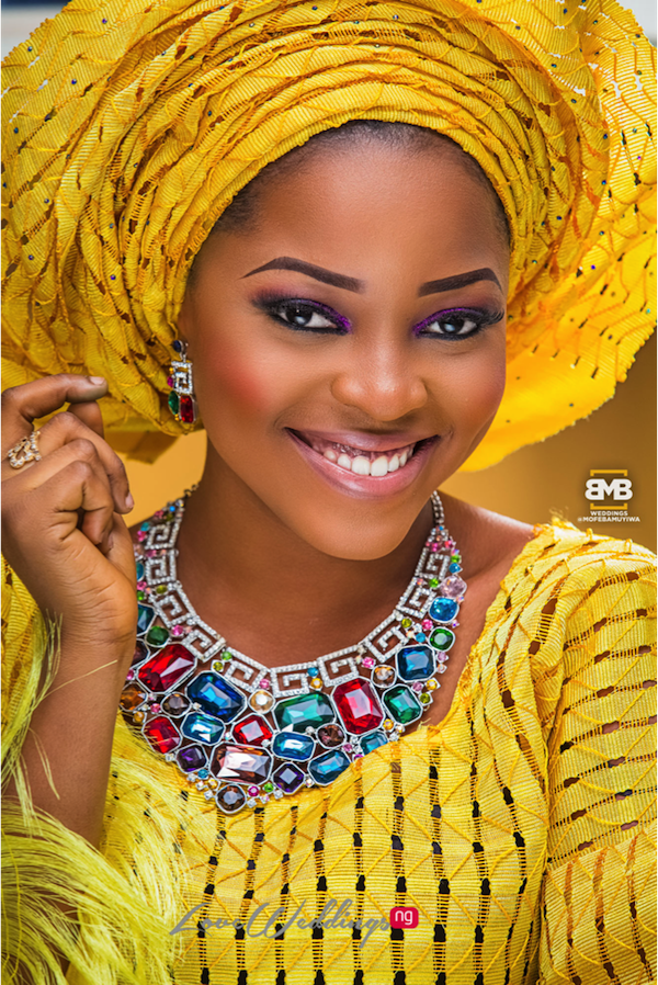 Yellow Traditional Bridal Inspiration BMB Photography LoveweddingsNG10