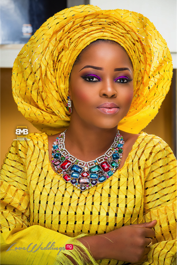 Yellow Traditional Bridal Inspiration BMB Photography LoveweddingsNG12