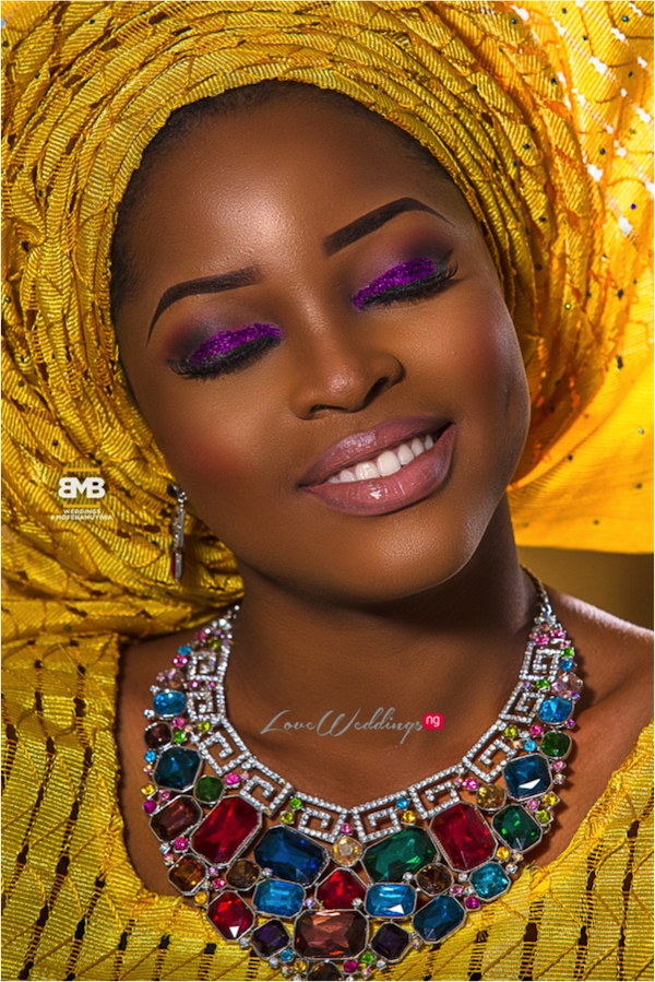 Yellow Traditional Bridal Inspiration BMB Photography LoveweddingsNG16