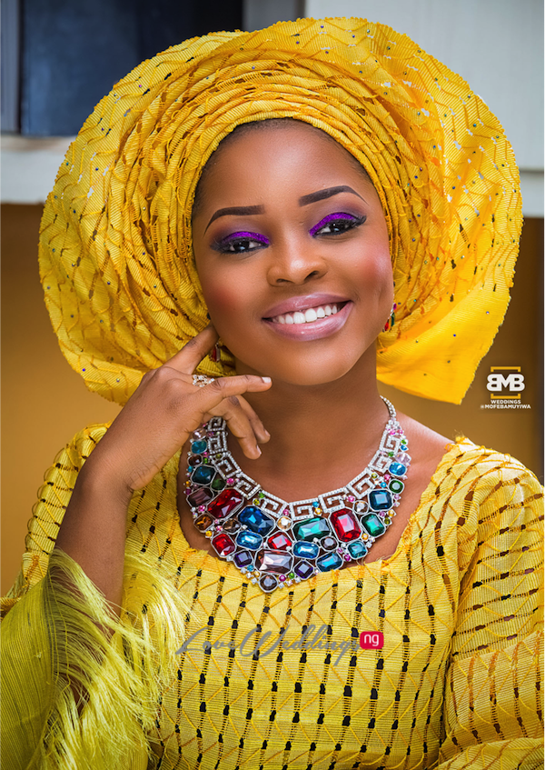 Yellow Traditional Bridal Inspiration BMB Photography LoveweddingsNG6