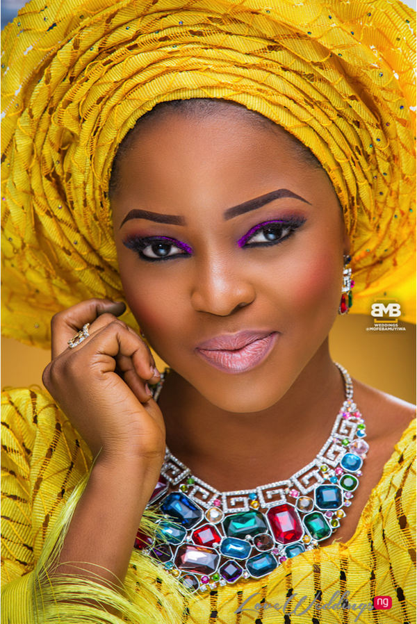 Yellow Traditional Bridal Inspiration BMB Photography LoveweddingsNG9