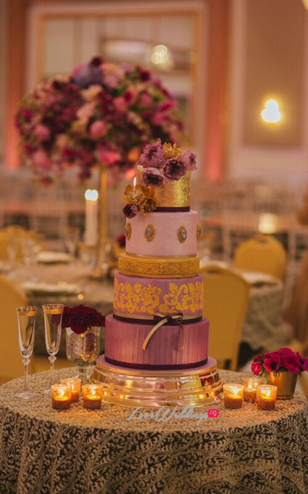 Gold Opulence Alegrar Events Wedding Cake LoveweddingsNG 1