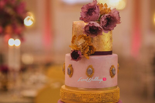 Gold Opulence Alegrar Events Wedding Cake LoveweddingsNG 2