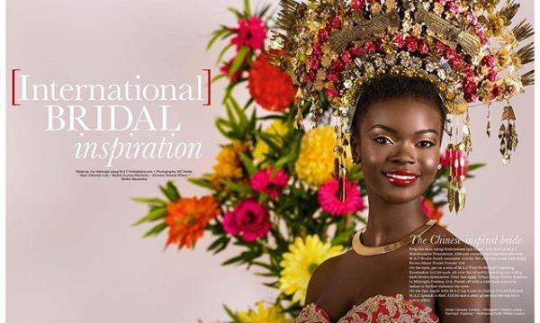 International Womens Day - Joy Adenuga Chinese Bridal Makeup LoveweddingsNG feat