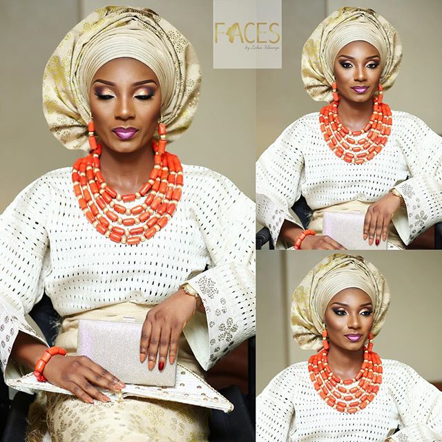 Nigerian Traditional Bridal Makeup #MrandMrsChurch LoveweddingsNG Faces by Labisi
