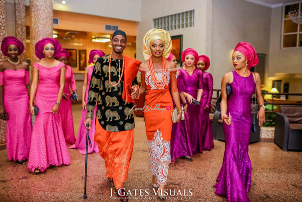 Nigerian Traditional Couple #MrandMrsChurch LoveweddingsNG 1