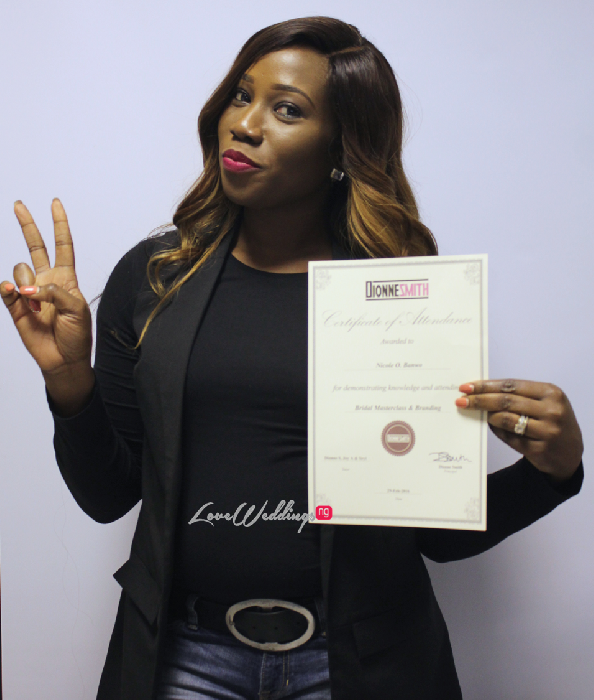 The Bridal Masterclass by Dionne Smith Academy - LoveweddingsNG Certificates 2