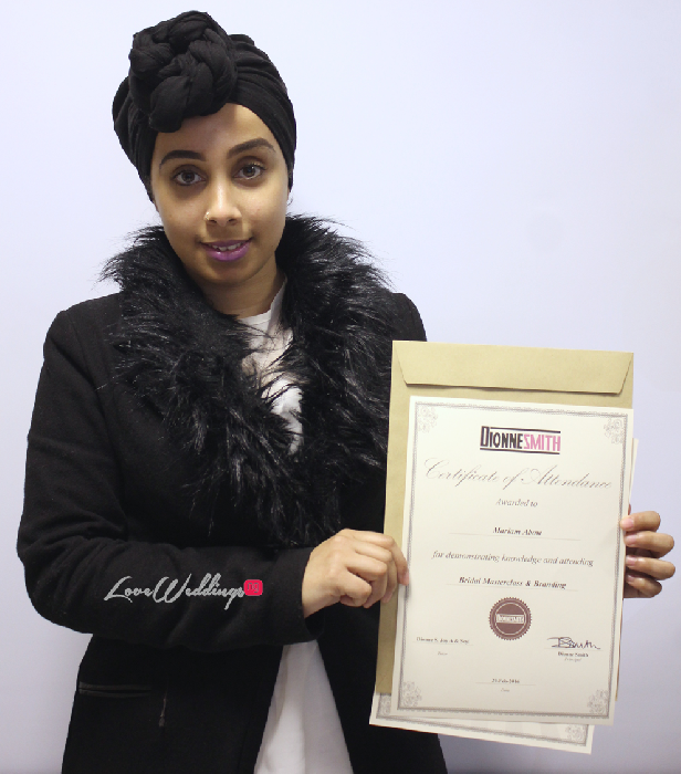 The Bridal Masterclass by Dionne Smith Academy - LoveweddingsNG Certificates 3