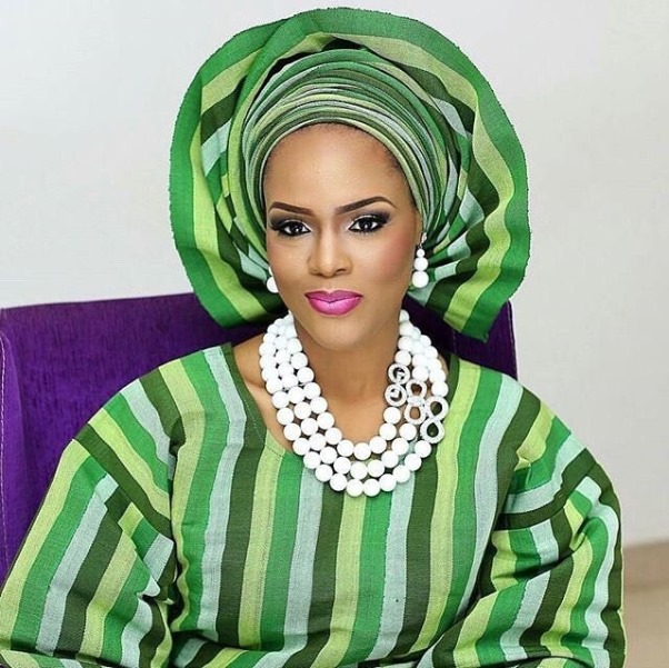 Aso Oke Head to Toe Nigerian Traditional Bride LoveweddingsNG 4