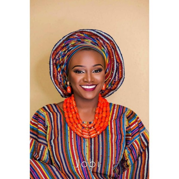 Aso Oke Head to Toe Nigerian Traditional Bride LoveweddingsNG 7