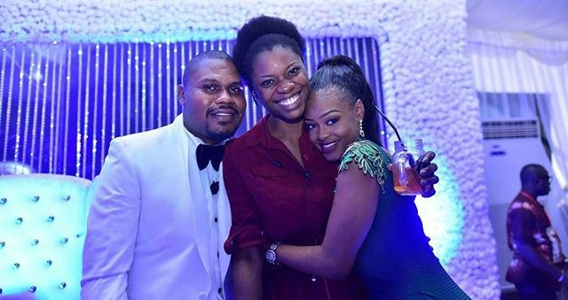Couple with their planner - Mosun of IPC Events LoveweddingsNG