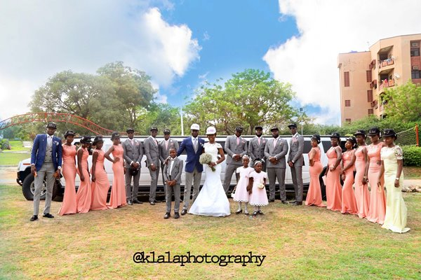 Nigerian Couple and Bridal Train - Tosin & Wale LoveweddingsNG Klala Photography