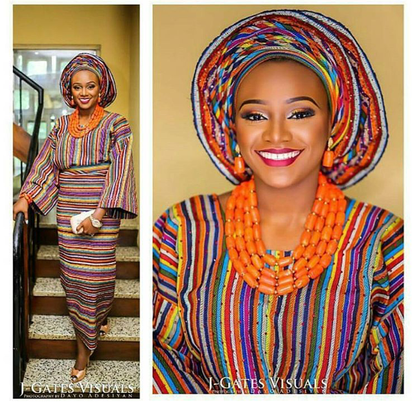 Nigerian Traditional Bridal Aso Oke Head to Toe Inspiration LoveweddingsNG 1