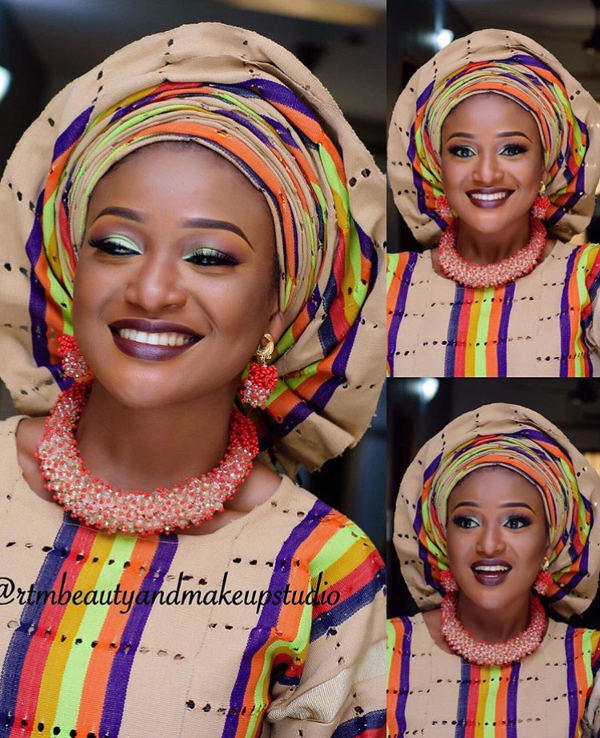 Nigerian Traditional Bridal Aso Oke Head to Toe Inspiration LoveweddingsNG 3