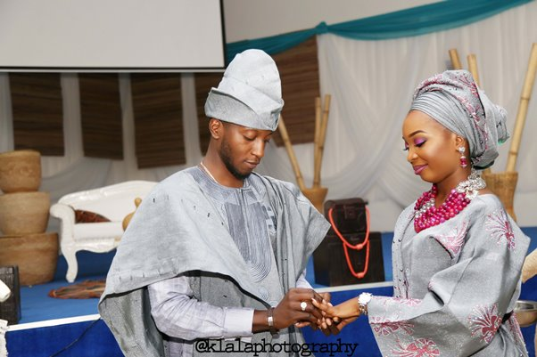 Nigerian Traditional Bride and Groom Ring Klala Photography LoveweddingsNG