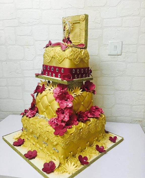 Nigerian Traditional Wedding Cake #ThePsalms2016 The Muse Academy LoveweddingsNG
