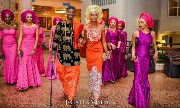 NigerianTraditionalWeddingMrandMrsChurchTrendybeeEvents LoveweddingsNG1jpg
