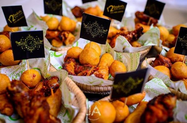 Nigerian Traditional Wedding Ranti and Isaac LoveweddingsNG 2706 Events Small Chops Finger Foods