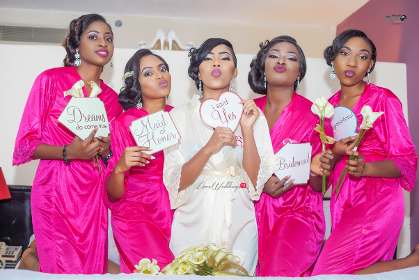 Nigerian Wedding - Joy and Jonathan Bride and Bridesmaids LoveweddingsNG