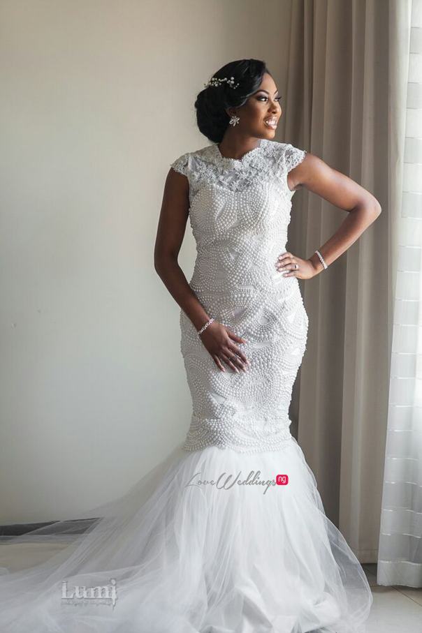 Nigerian Wedding #MeetTheShyngles Adeola and Ayodeji Gown Lanre Da Silva Ajayi