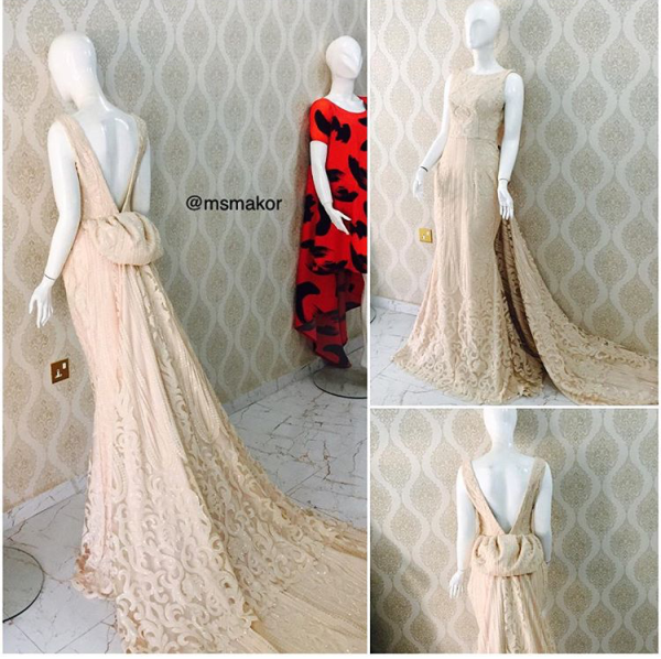 Nigerian Wedding #MeetTheShyngles Adeola and Ayodeji Reception Dress MsMakor LoveweddingsNG